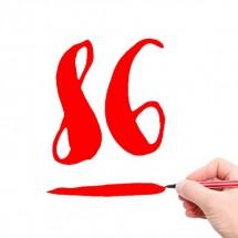 数字の「86」は英語では動詞という事実